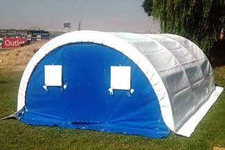 Refugee and Aid Tent